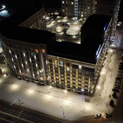 Фотоотчет о проделанной работе освещение Capital Park